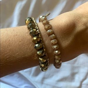 Gold and Beige Accent Stretchy Stack!